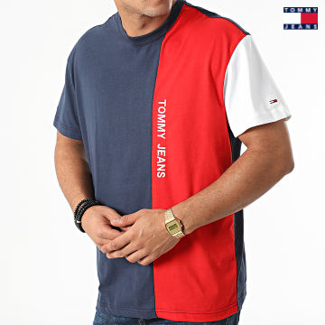 https://laboutiqueofficielle-res.cloudinary.com/image/upload/v1627651009/Desc/Watermark/3logo_tommy_jeans.svg Tommy Jeans - Tee Shirt Tommy Colorblock 1440 Bleu Marine Rouge Blanc