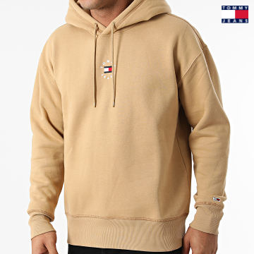 https://laboutiqueofficielle-res.cloudinary.com/image/upload/v1627651009/Desc/Watermark/3logo_tommy_jeans.svg Tommy Jeans - Sweat Capuche Tiny Tommy Circular 1723 Beige