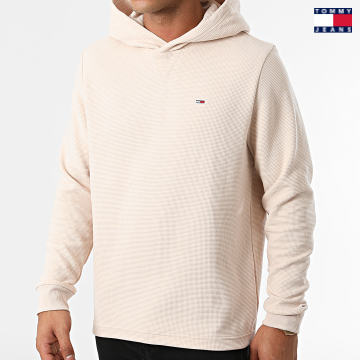 https://laboutiqueofficielle-res.cloudinary.com/image/upload/v1627651009/Desc/Watermark/3logo_tommy_jeans.svg Tommy Jeans - Sweat Capuche Waffle Hooded 1739 Beige