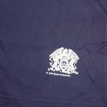 Queen Tee shirt moulant fille Bleu marine Queen Silver