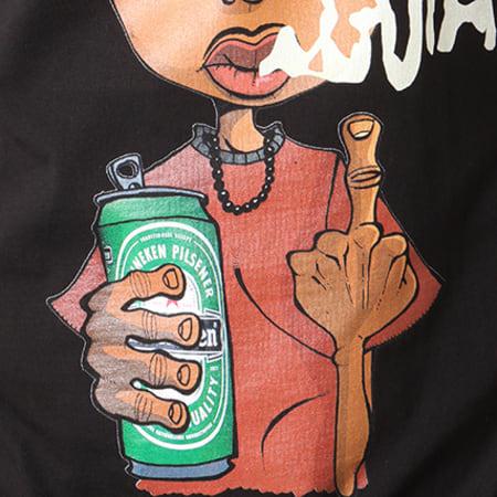 Y et W - Tee Shirt Guizmo Perso Noir