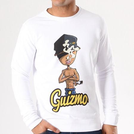 Sweat Crewneck Guizmo Script Blanc
