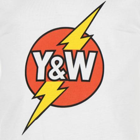 Tee Shirt Y et W Lightning Blanc