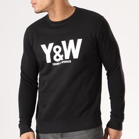 Sweat Crewneck Y et W Classic Logo Noir