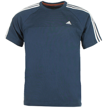adidas Tee Shirt adidas Ess 3S Crew Tee Bleu Marine