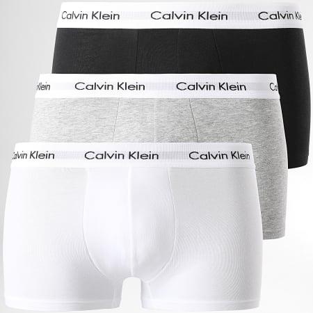 Calvin Klein - Lot de 3 Boxers Coton Stretch U2664G Noir Blanc Gris