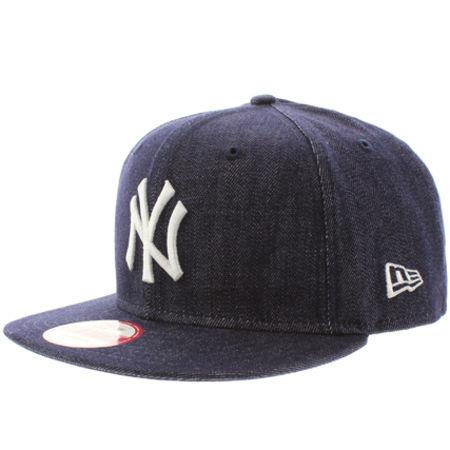 Casquette Snapback New Era Denim Basic New York Yankees Bleu Marine