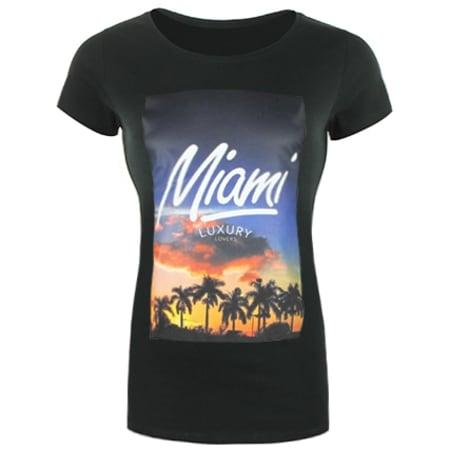 Tee Shirt Femme Luxury Lovers Miami Noir