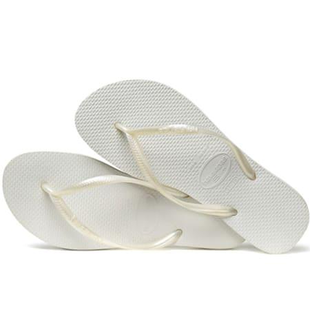 Tongs Femme Havaianas Slim Blanc
