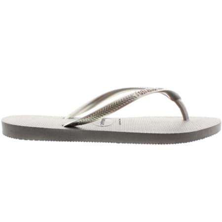 Tongs Femme Havaianas Slim Steel Gray