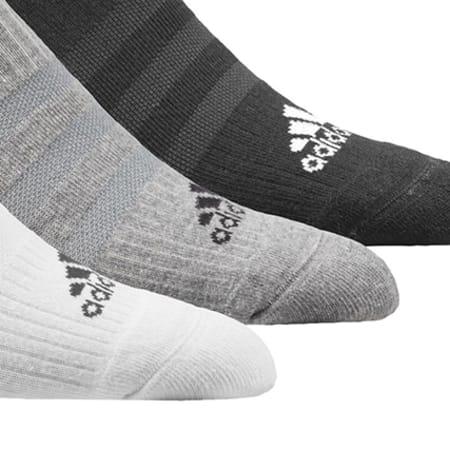 adidas - Lot De 3 Paires De Chaussettes AA2281 Noir Gris Blanc