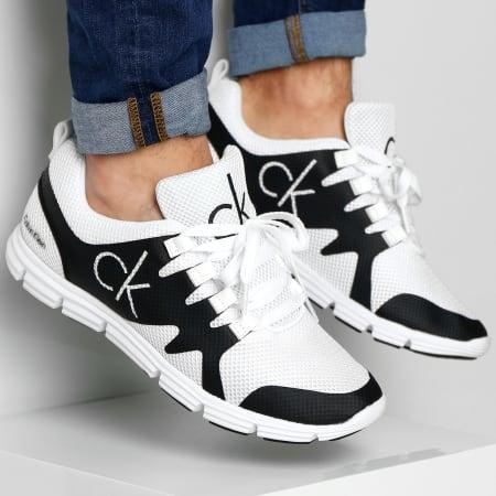 Calvin Klein - Baskets Murphy Mesh Rubber Spread Blanc