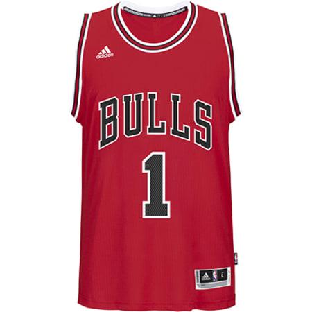 adidas Maillot De Basket Ball Chicago Bulls Rose Rouge