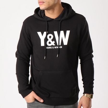 Y et W - Sweat Capuche Classic Logo Noir