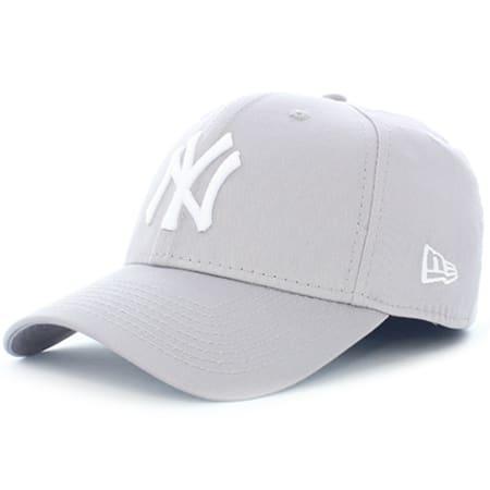 New Era - Casquette 39 Thirty League Basic New York Yankees Gris Blanc
