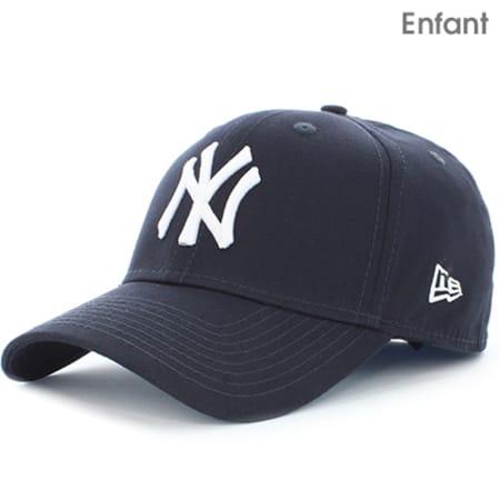 New Era - Casquette Enfant 940 MLB League Basic New York Yankees Bleu Marine Blanc