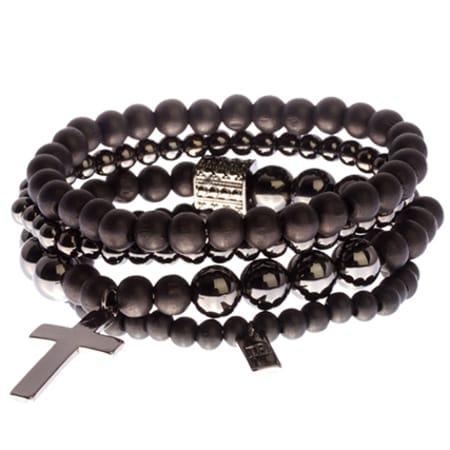Icon Brand - Lot De 3 Bracelets Try Noir