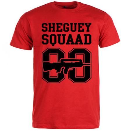 Sheguey Squaad - Tee Shirt Logo Classique 00 Rouge Noir
