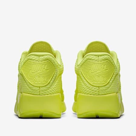nike - baskets air max 90 ultra breathe jaune fluo