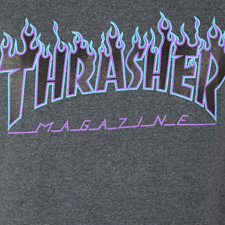 Thrasher - Tee Shirt Flame Gris Anthracite