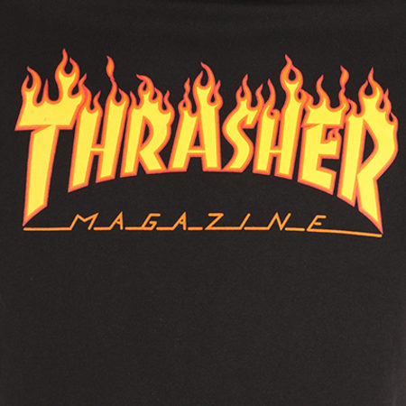 Thrasher - Sweat Capuche Flame Noir