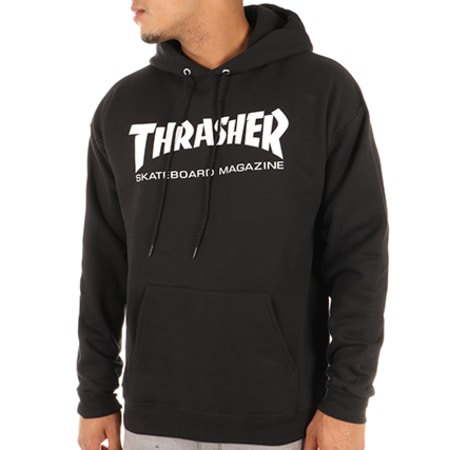 Thrasher - Swat Capuche Skate Mag Noir