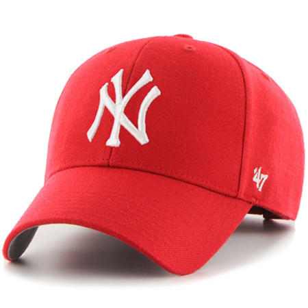 47 Brand - Casquette De Baseball Melvin New York Yankees Rouge
