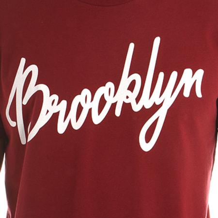 Luxury Lovers - Tee Shirt Brooklyn Script Bordeaux
