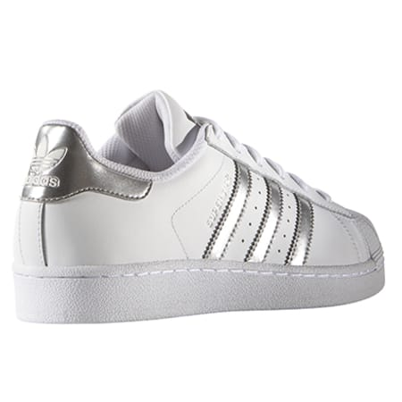 Baskets Blanc Superstar AQ3091 adidas Argent Femme YeH9W2DbEI