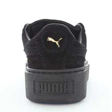 Puma Baskets Femme Suede Platform Gold Noir Doré