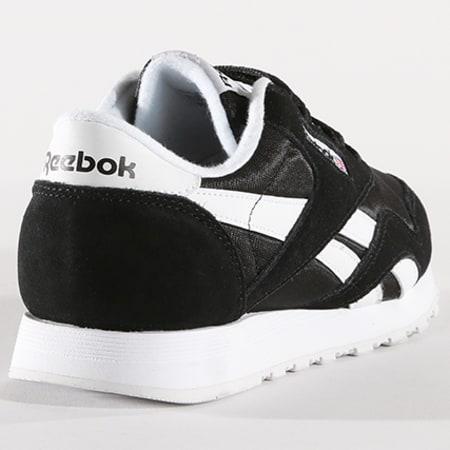 Reebok - Baskets Classic Nylon Noir Blanc
