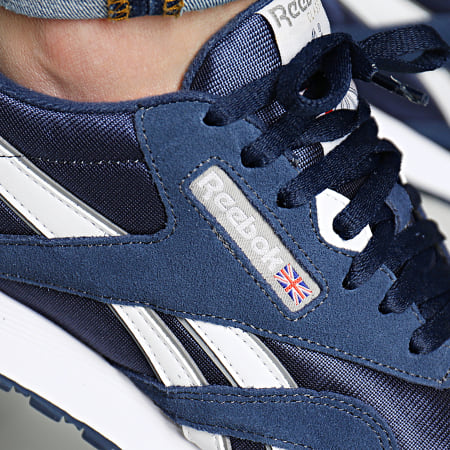 2018 Reebok Baskets Basses Chaussures Team Navy Platinum