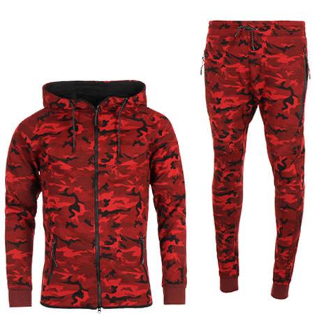 haut rouge camouflage nike survêtement