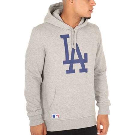 New Era - Sweat Capuche Los Angeles Dodgers Gris Chiné