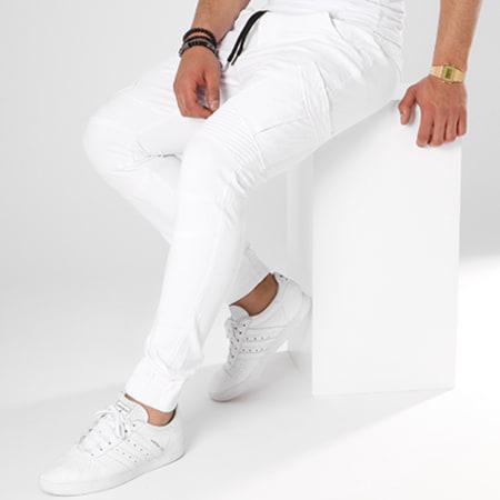 John H - Jogger Pant P6085 Blanc Noir