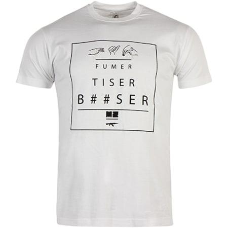 MZ Tee Shirt Fumer MZ Blanc