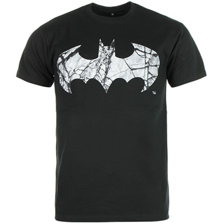 Tee Shirt Batman Cracked Logo Noir
