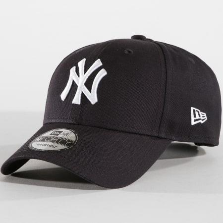 New Era - Casquette 940 League Basic New York Yankees Bleu Marine Blanc