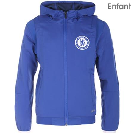 adidas Veste Zippée Capuche Enfant AZ1000 FC Chelsea Bleu