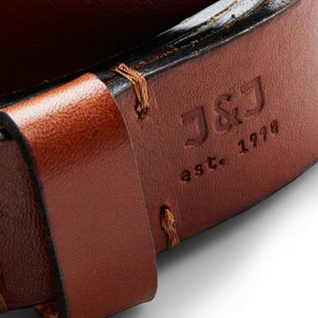 Jack And Jones - Ceinture Clee Leather Marron
