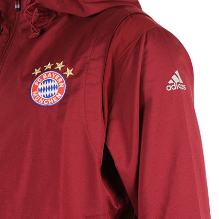 adidas Veste Zippée Capuche Fc Bayern AO0344 Bordeaux