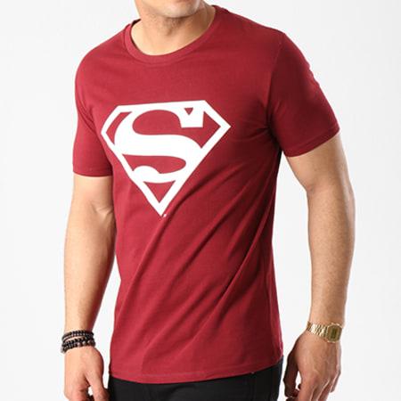 Superman - Tee Shirt Logo Bordeaux
