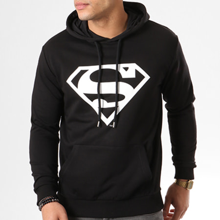 Superman - Sweat Capuche Premium Logo Noir