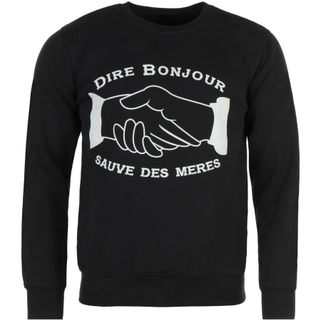 NQNT - Sweat Crewneck Dire Bonjour Noir