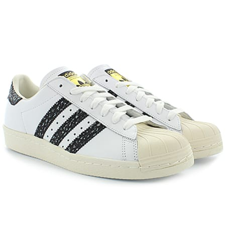 adidas Baskets Superstar 80S S75847 White Vapour Green Off