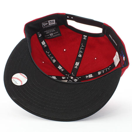 New Era - Casquette Snapback 9Fifty New York Yankees Rouge Noir