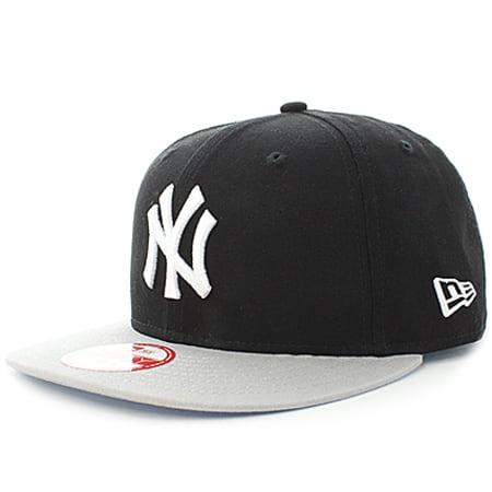 New Era - Casquette Snapback Block New York Yankees Noir Gris