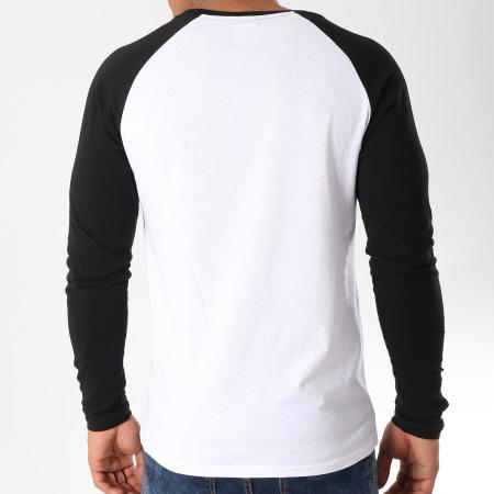 LBO - Tee Shirt Manches Longues Raglan 35-1 Noir Blanc