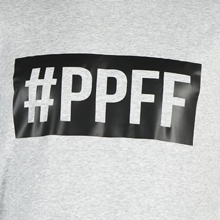 Jarod - Sweat Crewneck #PPFF Gris Chiné