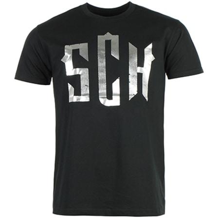 SCH - Tee Shirt Logo Noir Argent